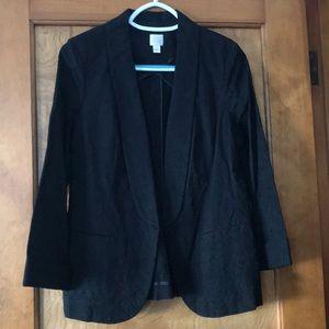 Black Patterned Blazer